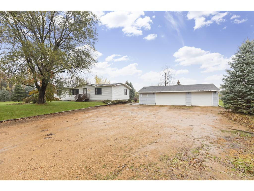 Large yard on this 2.47 acre parcel!