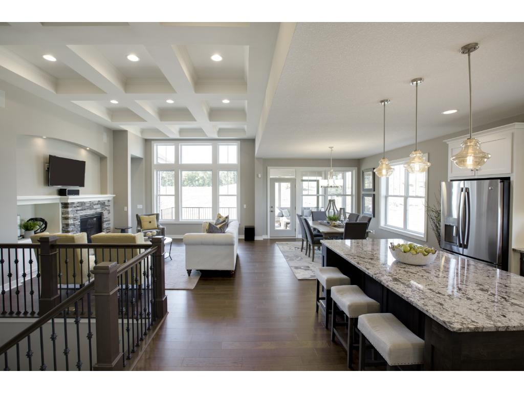 Dramatic 12u0027 Ceilings In Main Floor Family Room (photo Taken From Completed  Model Of