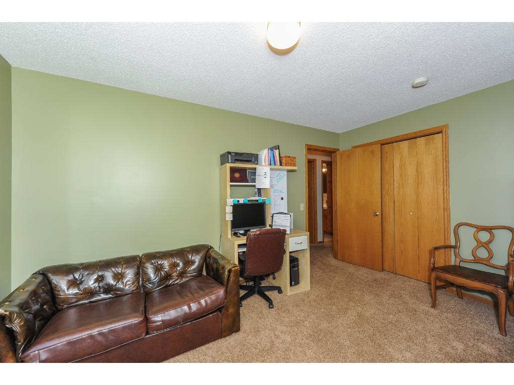 Upper level Bedroom currently utilized as an office