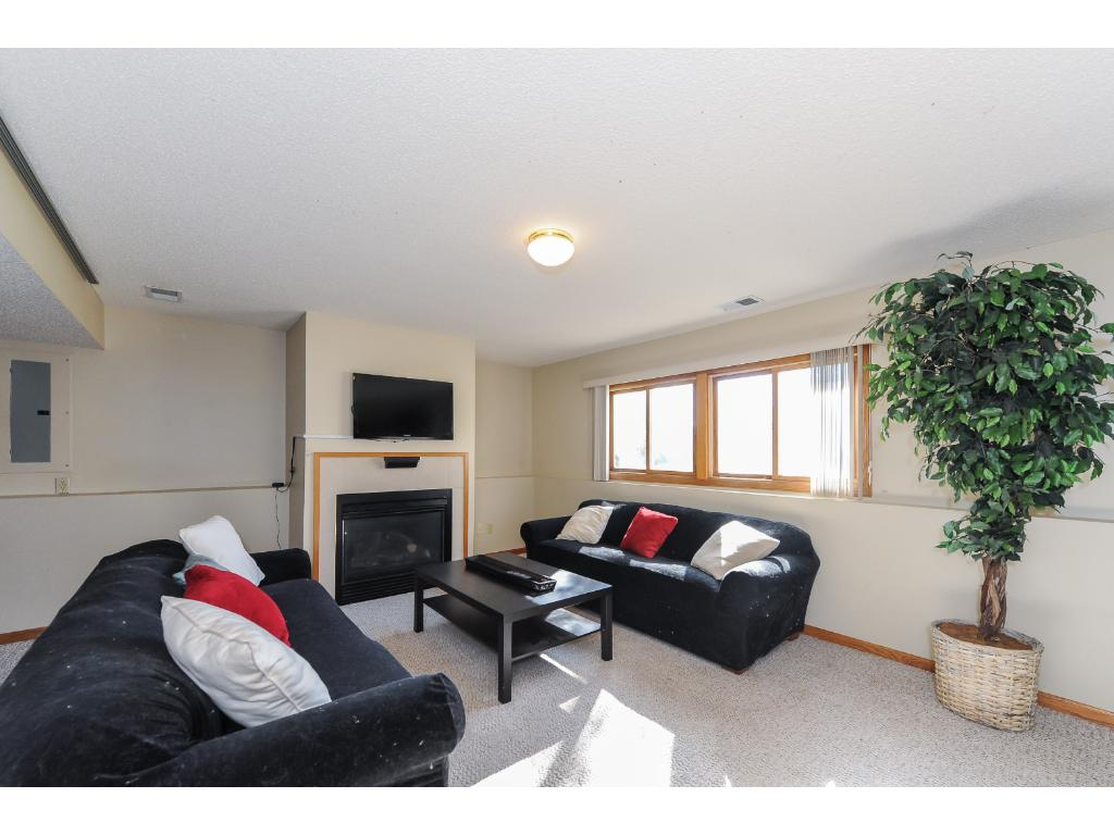 Lower-level Family Room with fireplace!