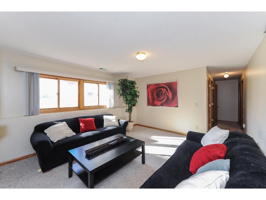 Perfect lower level area for hang-outs and movie night