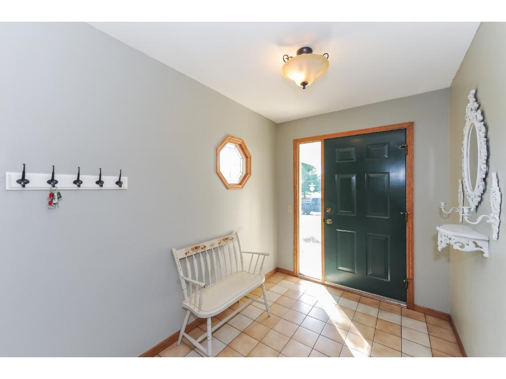 Functional and inviting foyer