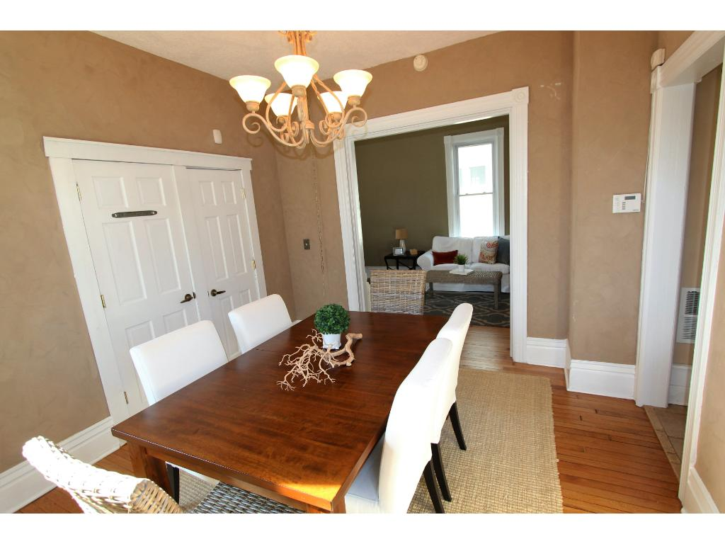 Beautiful hardwood floors, great ceiling heights and access your finished basement