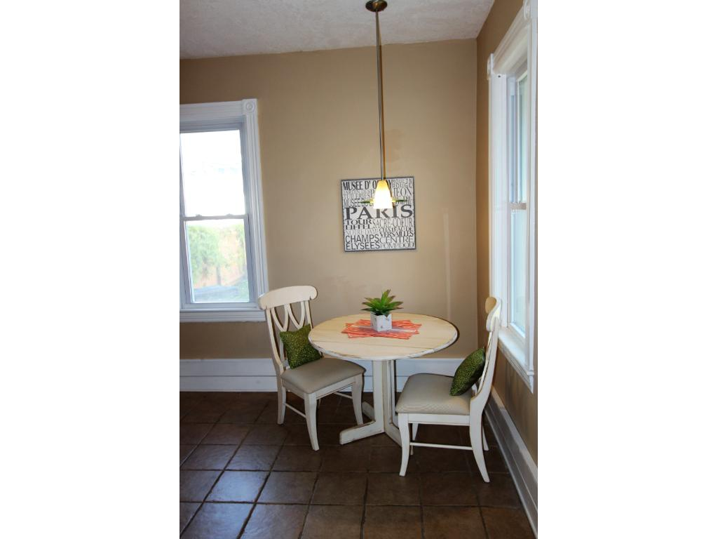 Enjoy your eat in kitchen with a view of the back porch