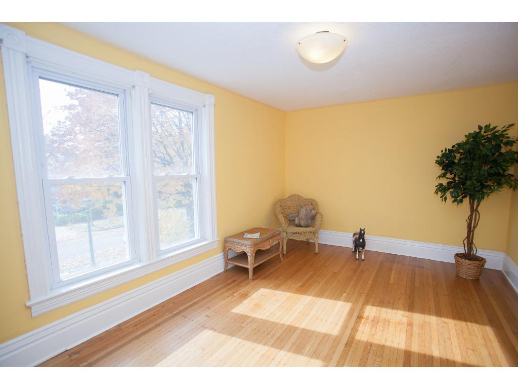 1 of the 3 bedrooms on the upper level...spacious and a lot of natural light