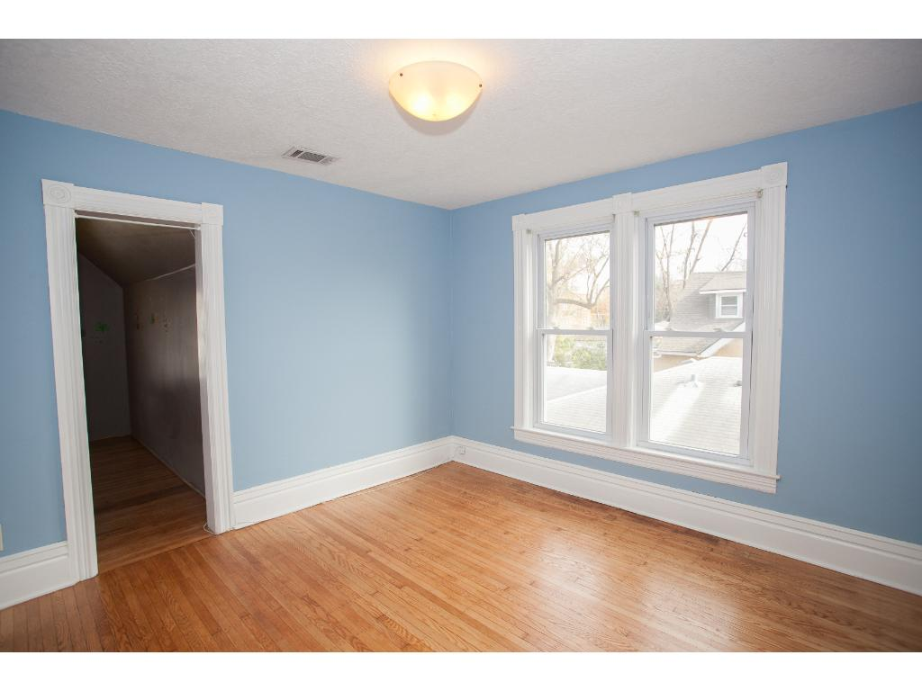 Large master bedroom with a HUGE walk in closet. Owners had used the closet for a nursery.