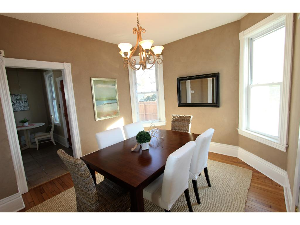 Very spacious dining room for hosting dinners!