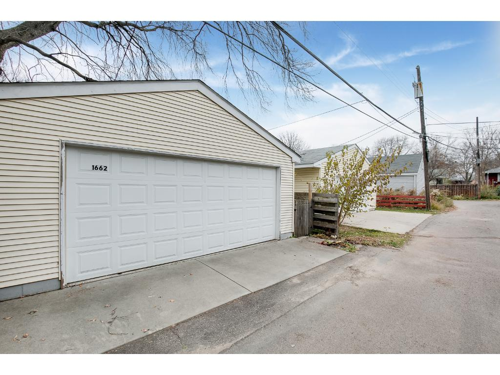 Wonderful over sized double garage too!