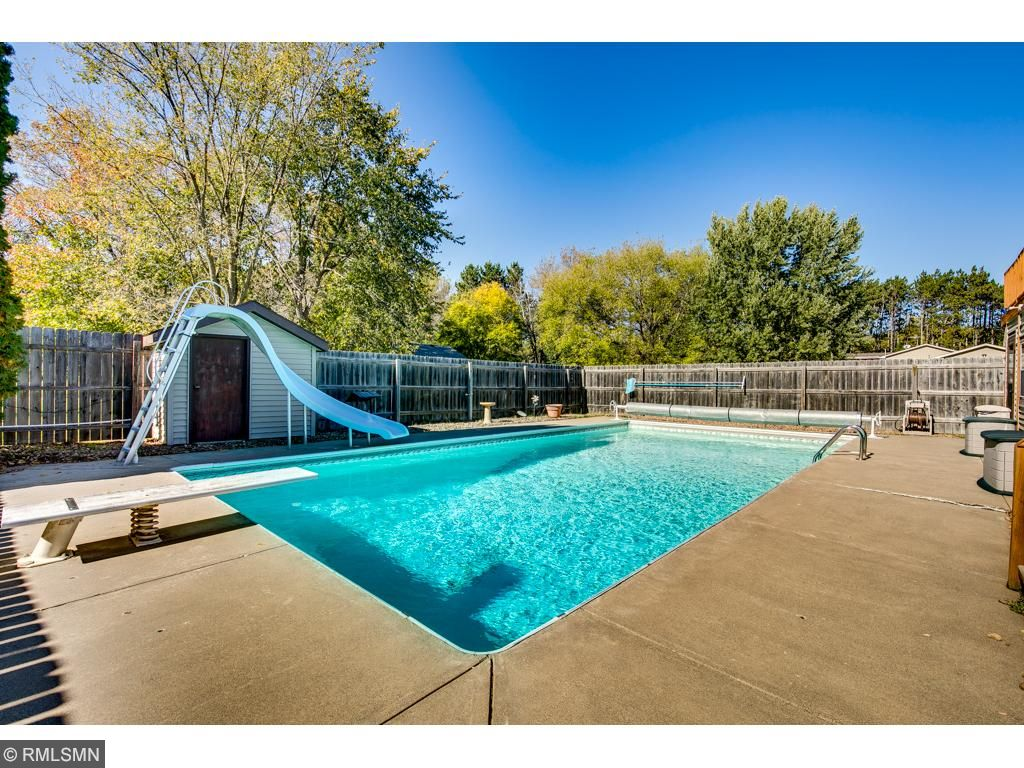 The in-ground pool is fully fenced.