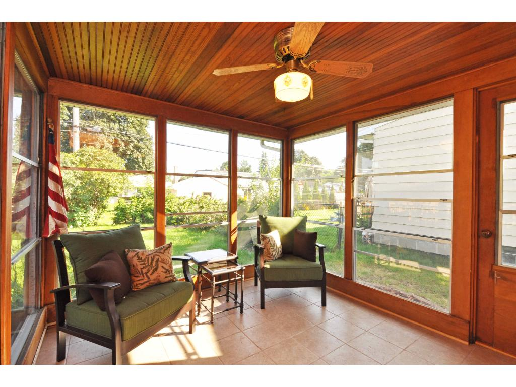 Open porch off dining room