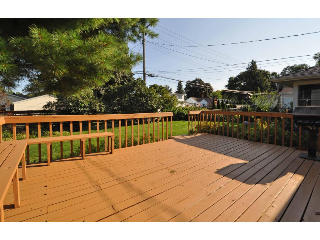 Extra Large Deck off Kitchen