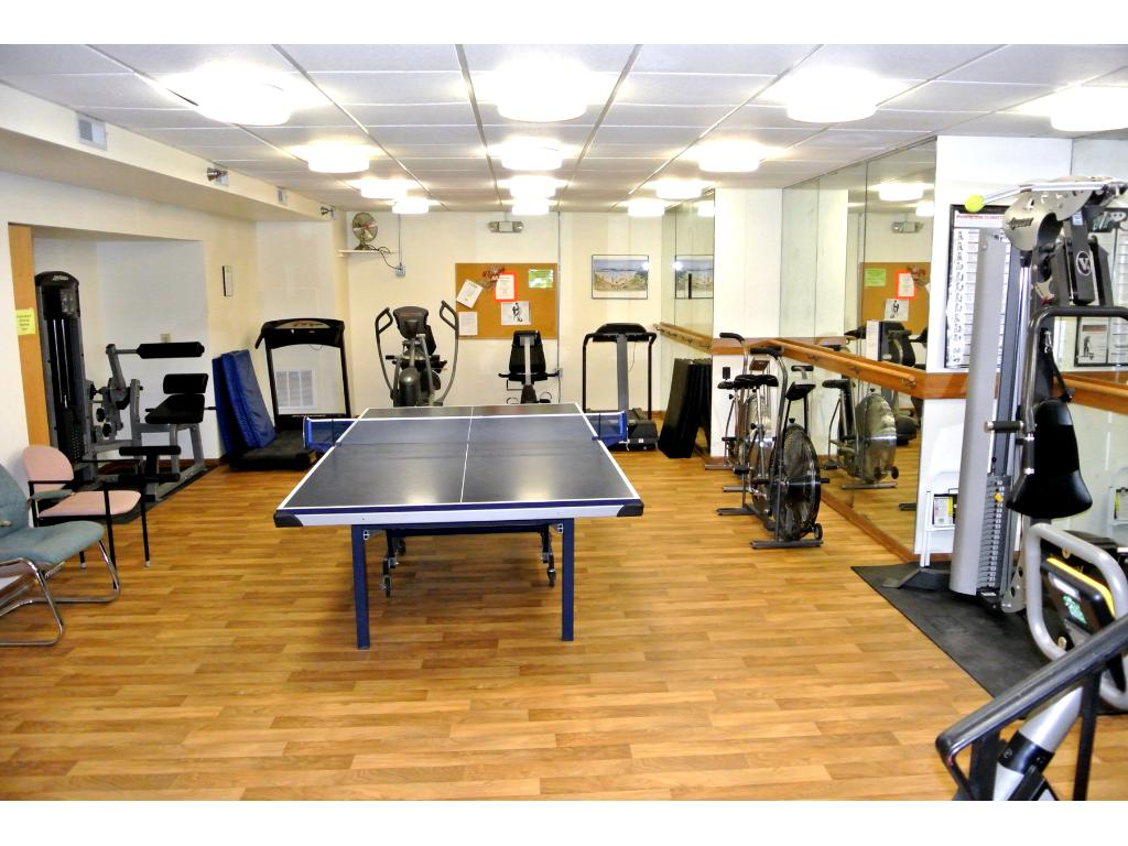 ... and a well equipped fitness center.  There is also a wood working shop, a huge Community Room, underground secure parking, community gardens and so much more!  Call soon for a tour of this wonderful facility.