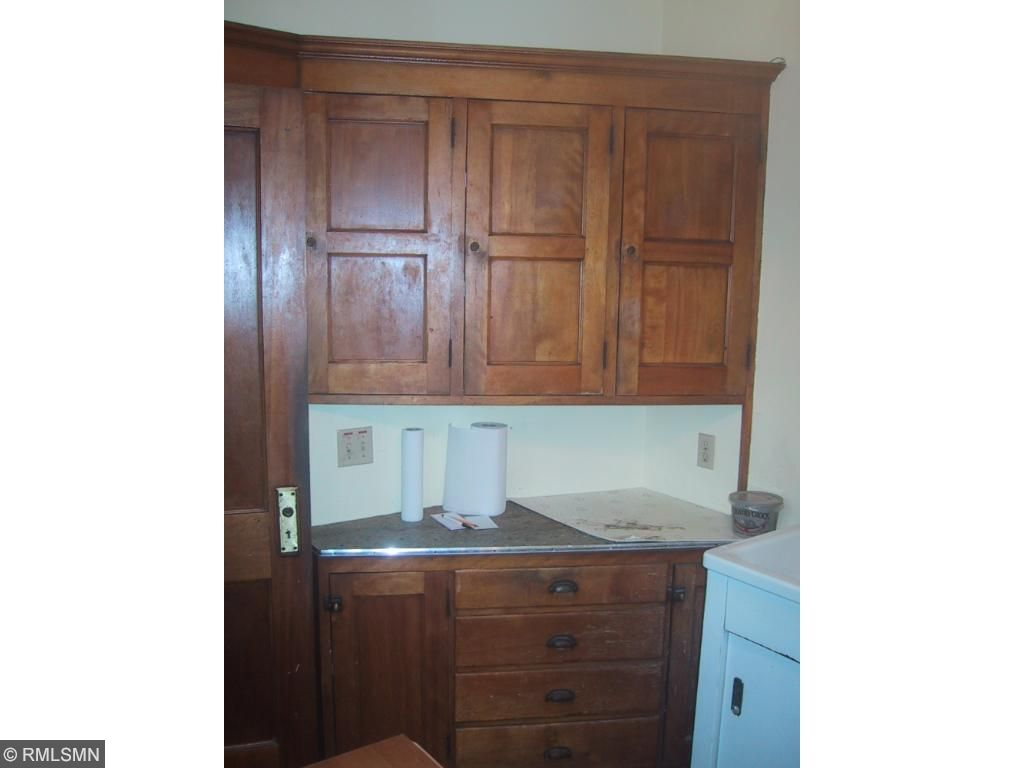 Original kitchen cabinetry.