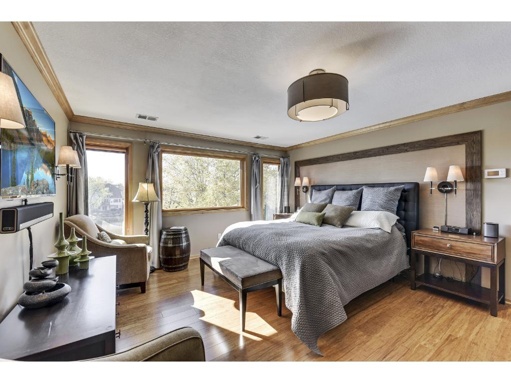 Spacious master suite professionally designed.