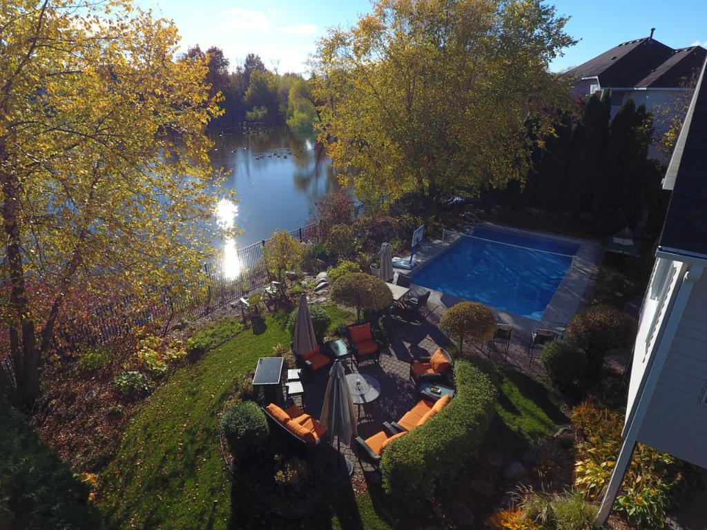 Stunning backyard with panoramic views.