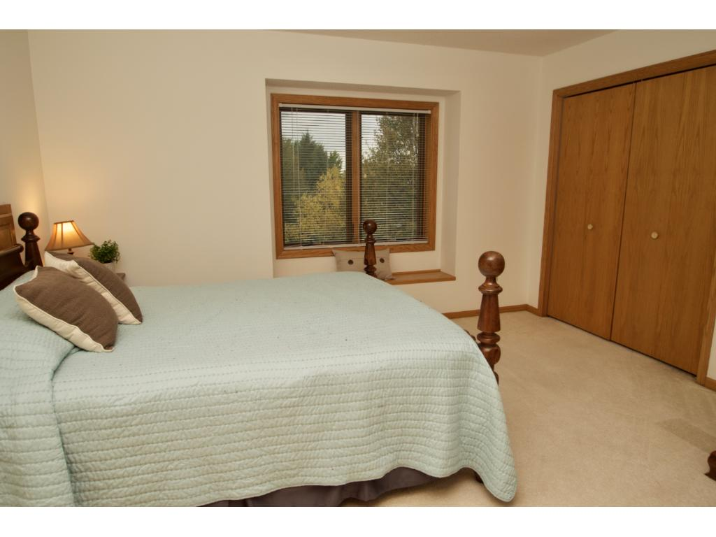 Nice size 2nd bedroom with bench seating and nice size closet.