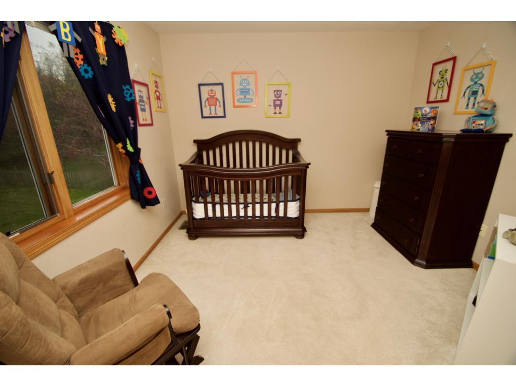 Third upper bedroom with nice size closet.