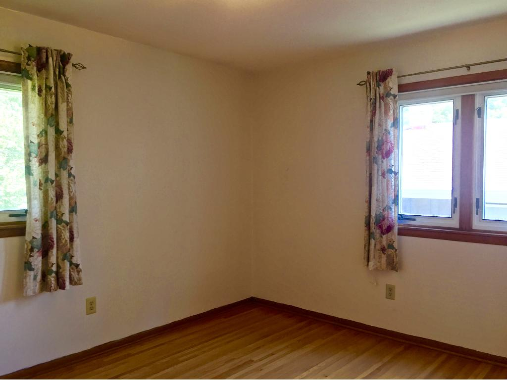 Three bedrooms are grouped upstairs with good closet space, soothing paint colors and hardwood floors.