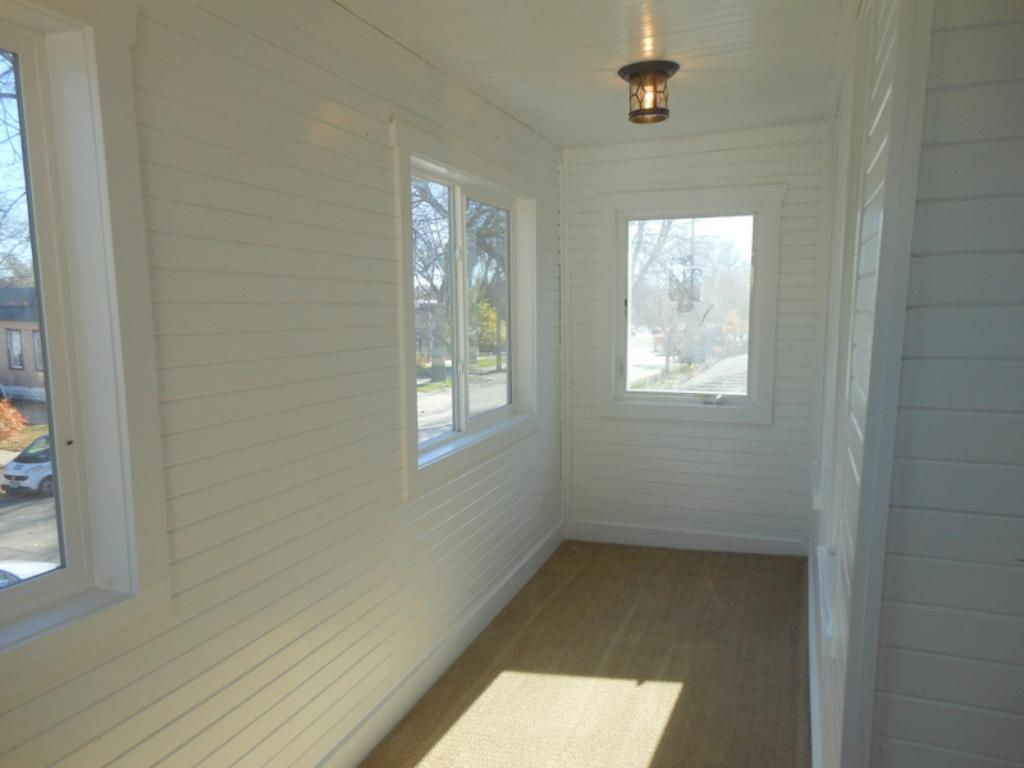Master bedroom private porch.