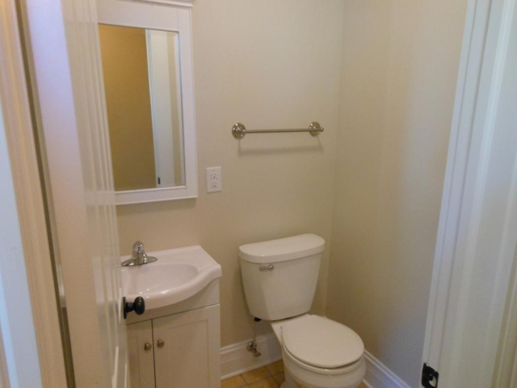 Back entry bathroom.