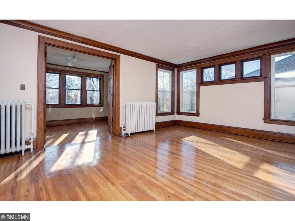 Tons of natural sunlight and hardwood floors