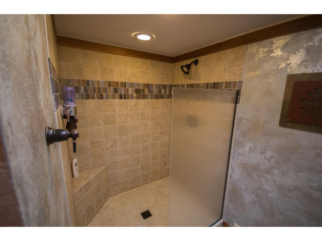 Guests or kids will love the walk-in shower!