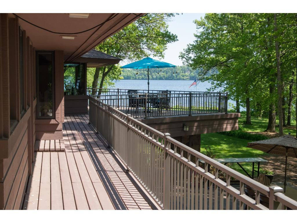 The wrap-around deck overlooks the water and grounds. Great for entertaining, events and relaxation. Limited to 24 pictures, there is so much more to see!