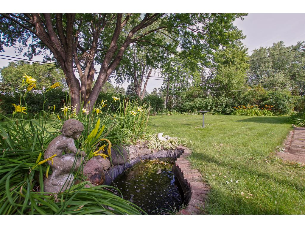 Beautiful Pond and Fountain Overlooking the Backyard--Just Off of the 28X28 Patio