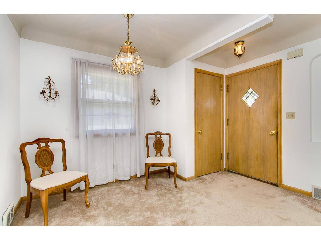 Beautiful Entry---Please Note the Coved Plaster Ceilings---More Hardwood Floors Under the Carpet
