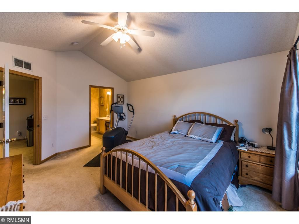 Master bedroom has private full master bath with large walk-in closet.
