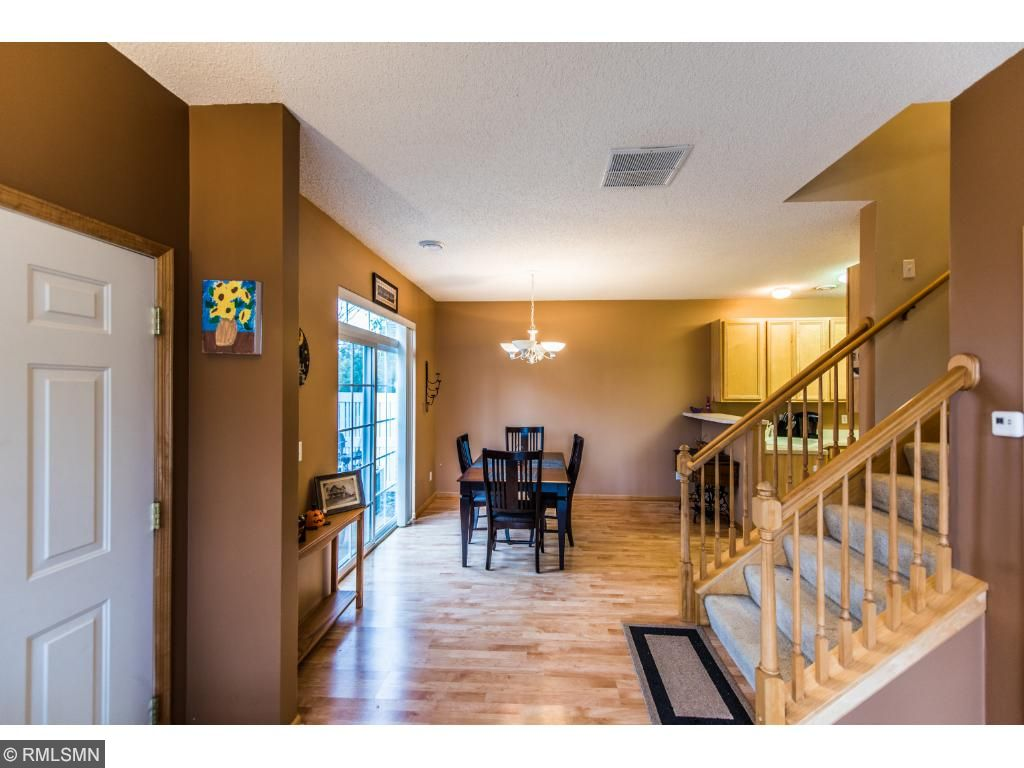 Main floor entry to family room and kitchen dining area.
