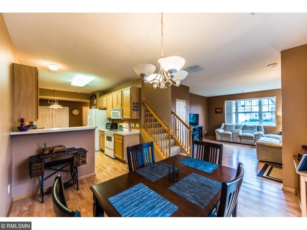 Plenty of room in this kitchen and dining room.