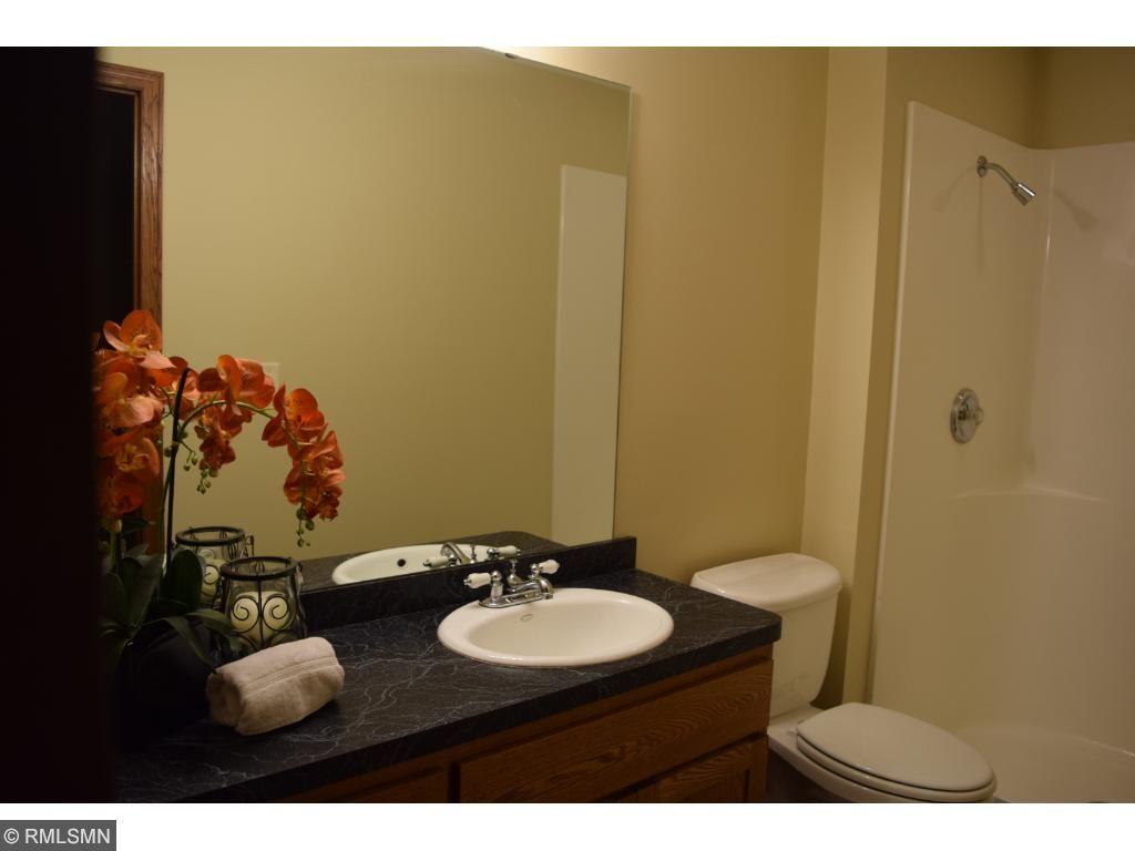 Lower level bath in lower level bedroom
