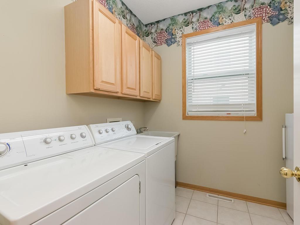 Convenient main floor laundry room.