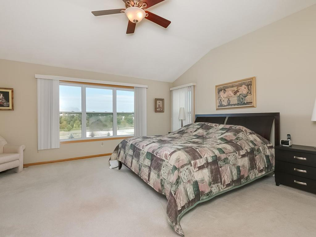 Large master suite with adjacent sitting room and lovely master bath.