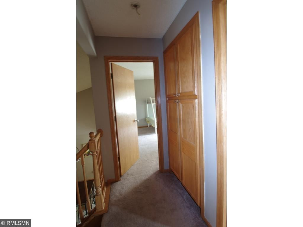 Large linen closet in the hall.  Most storage space you will find in a town home.  There is a 4' crawl space under the entire Kitchen area.