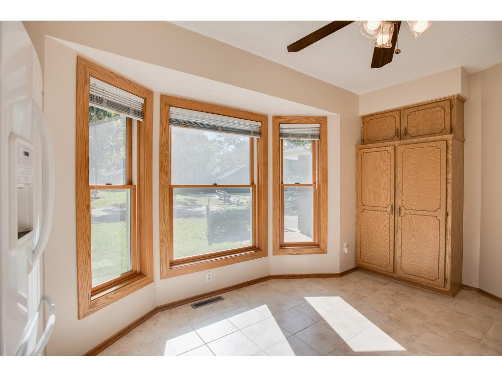 Bay window and large pantry in the kitchen
