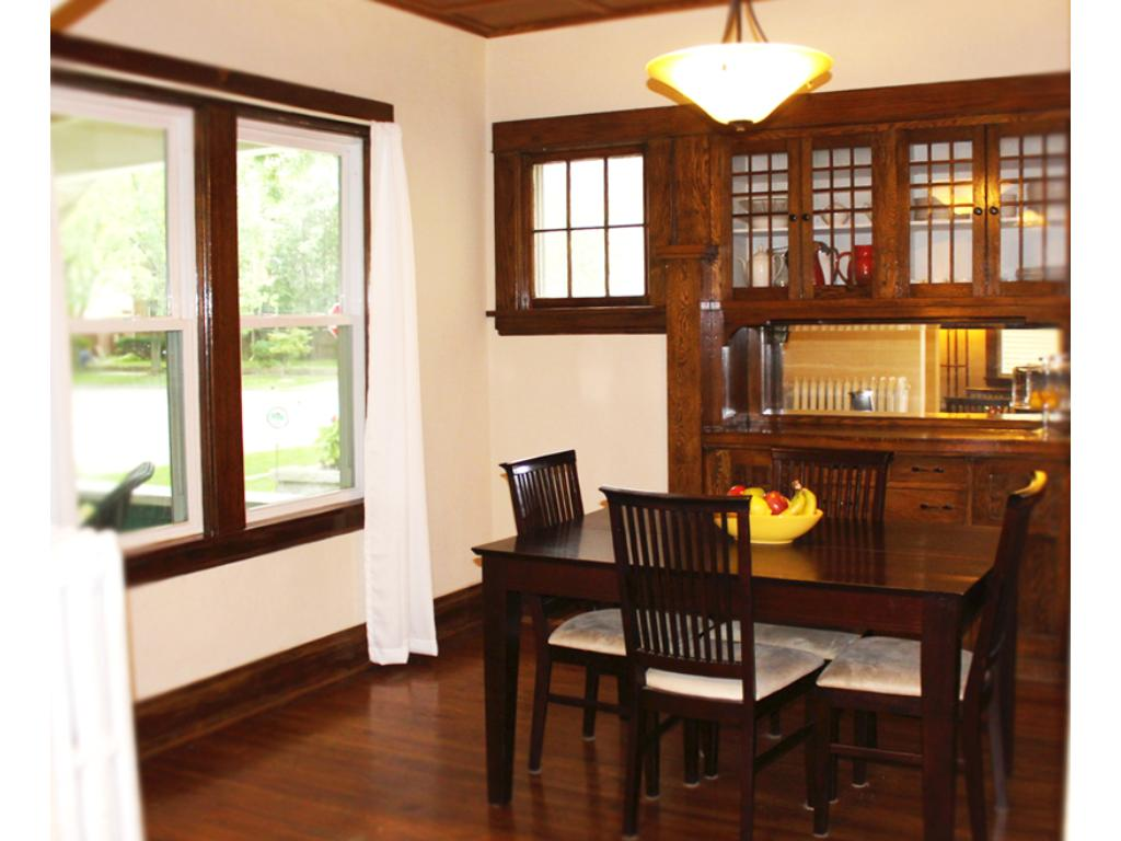 Dining room overlooking the front porch.