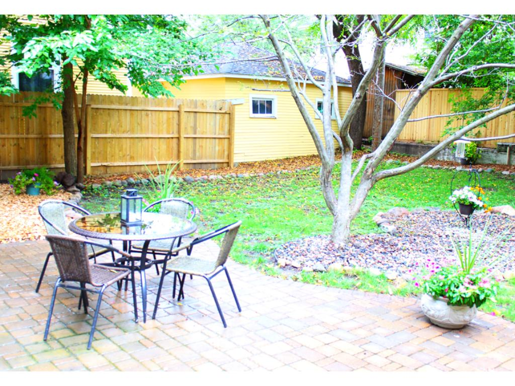 New patio and fence in the backyard.
