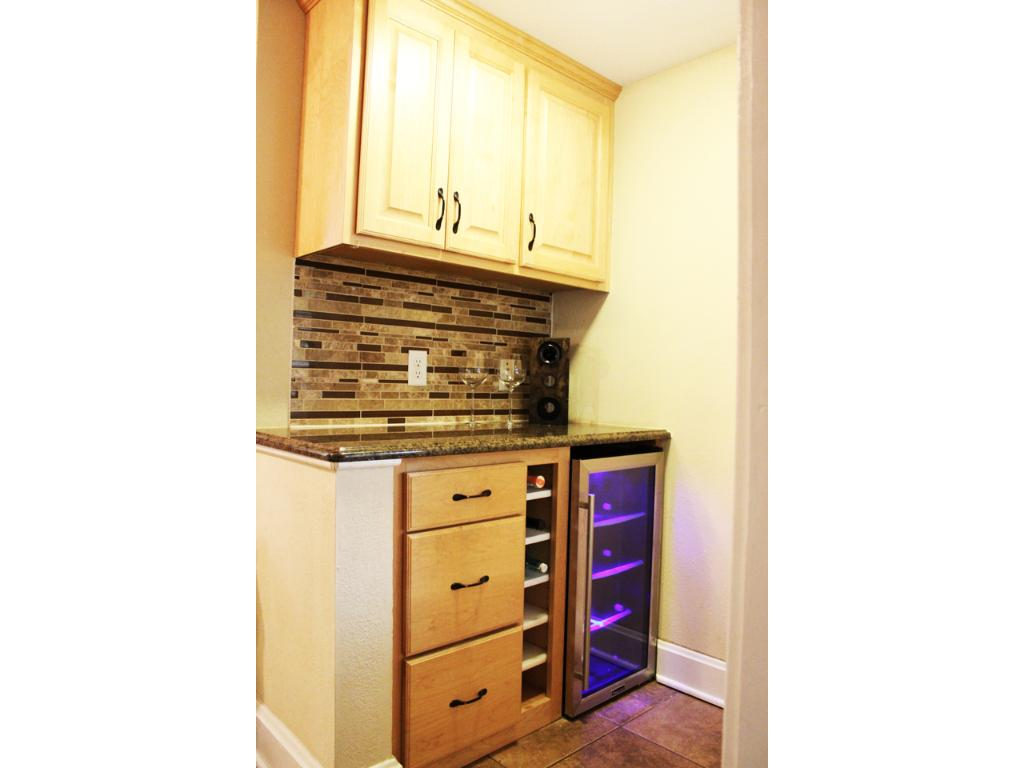 Fantastic butlers pantry with wine cooler!