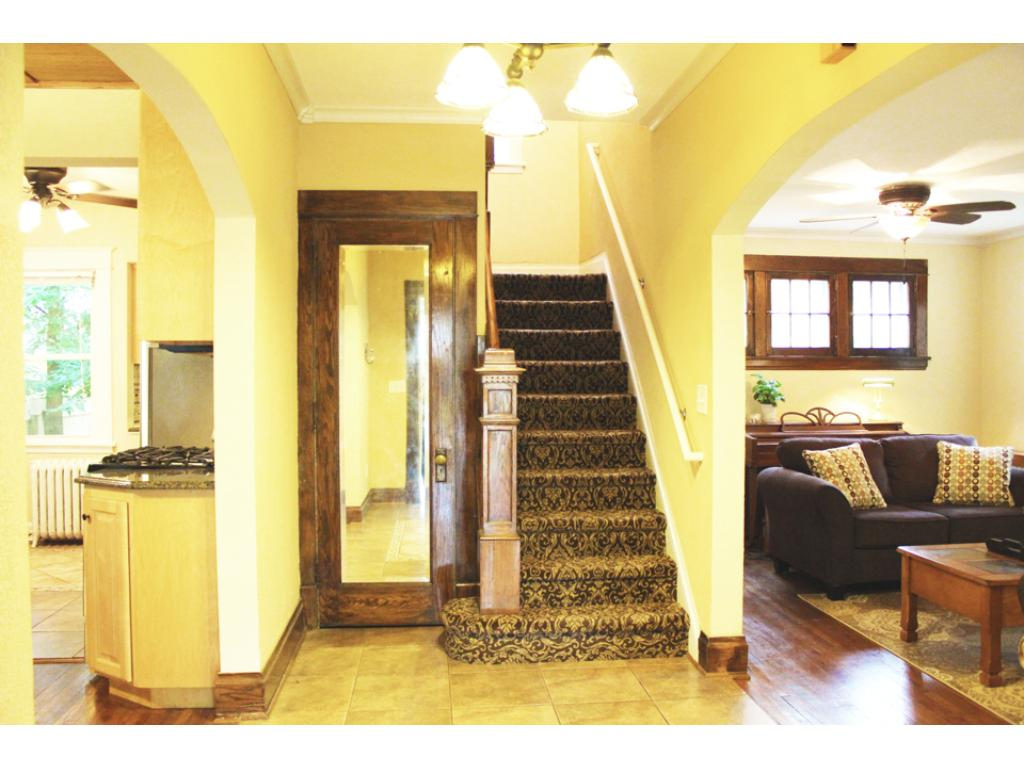 Warm and inviting foyer.