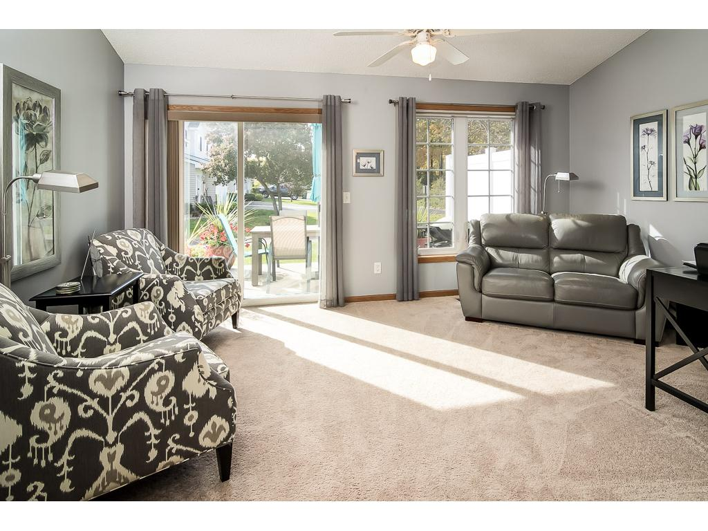 Relaxing sunroom walks out to rear patio.