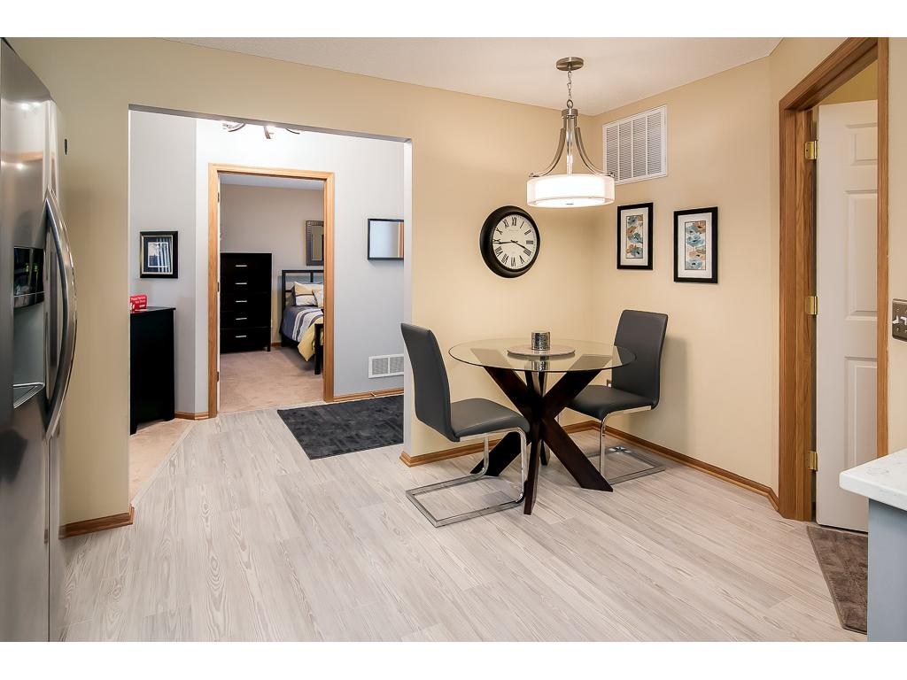 Eat-in kitchen plus formal dining
