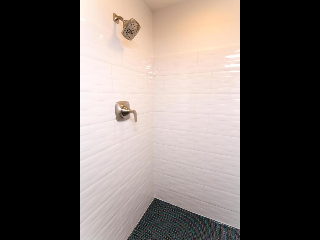 Lower level 3/4 bath shower detail.