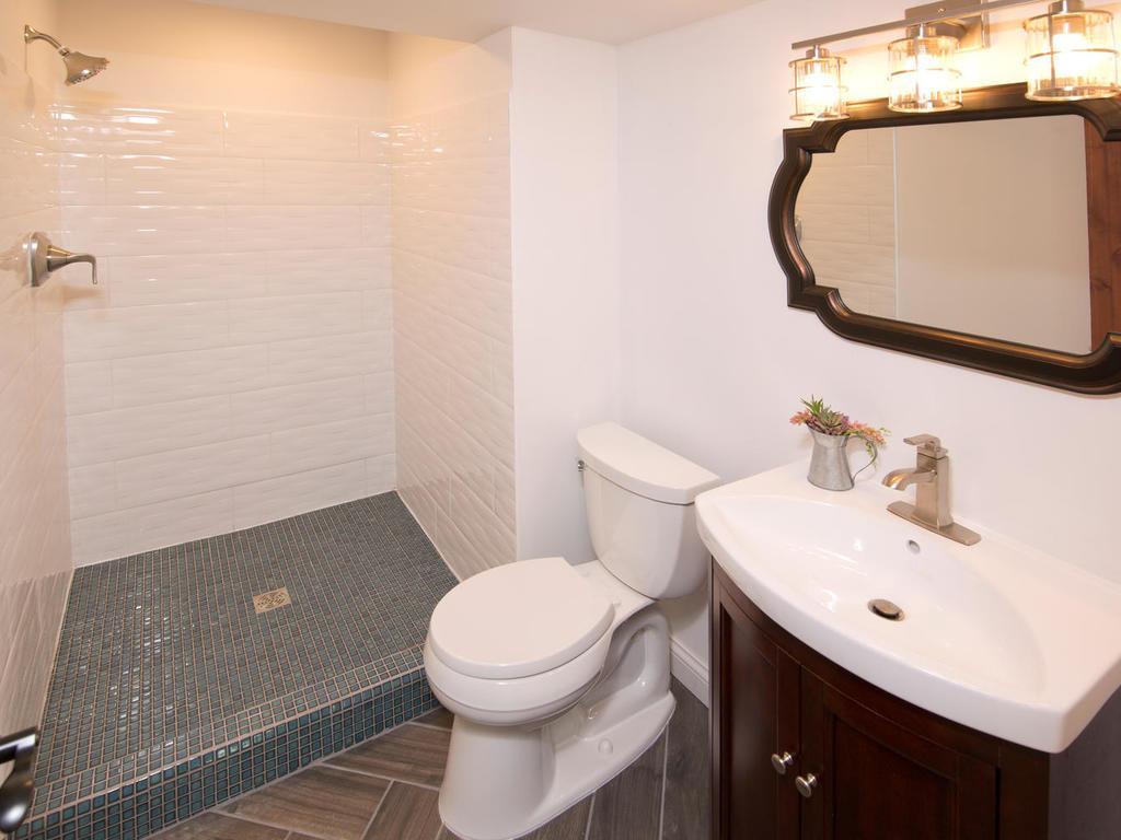 Lower level 3/4 bathroom. Next to lower bedroom.