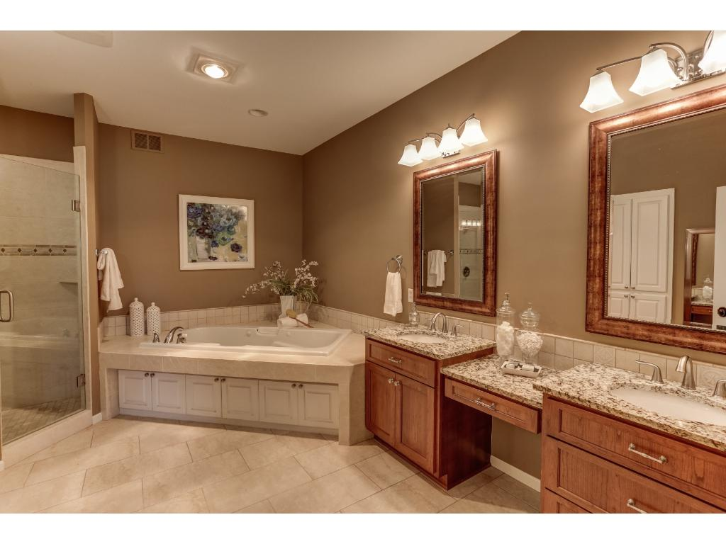 Main Level Master Bath, His and Her Sinks and Closets!