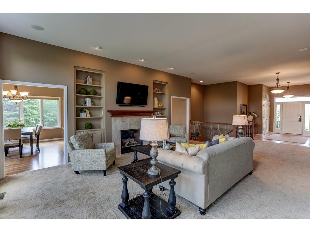 Features Gas Fireplace and Open Spaces