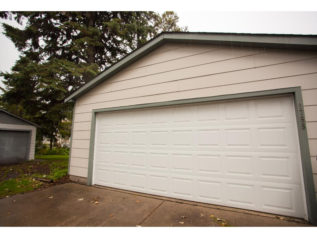 Large two-car garage--no need to park on the street this winter!