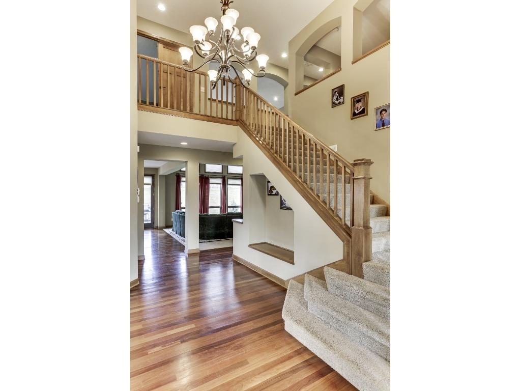 A beautifully accented, two story Foyer lead to the upper level where you will find the bedrooms.