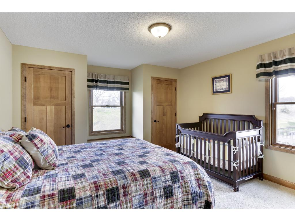 The third Bedroom offers a private 3/4 en suite bathroom and walk-in closet.